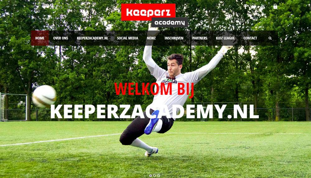 Uitbreiding Keeperz.nl met nieuwe website Keeperzacademy.nl door Qccs